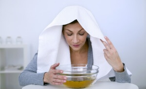 Ингаляции над паром - процедура лечения насморка