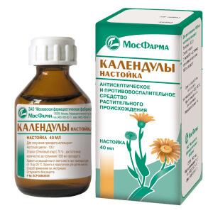 Настойка календулы - противовоспалительное и антисептическое средство