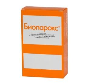 Биопарокс оказывает местное противовоспалительное действие