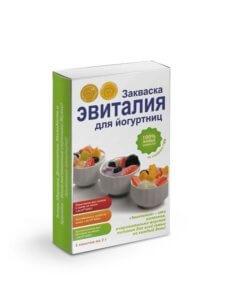 Закваска «Эвиталия» в форме лиофилизированного порошка для приготовления йогурта