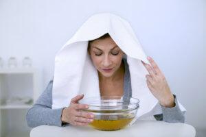 Делать ингаляции при повышенной температуре тела запрещено!