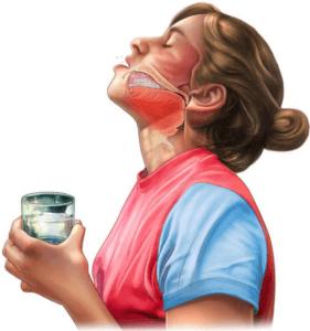 Устраняем слизь из задней стенки горла методом полоскания