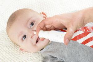 От инфекционного насморка можно использовать сосудосуживающие капли Назол Беби