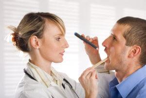 Подтвердить диагноз может ЛОР-врач после осмотра