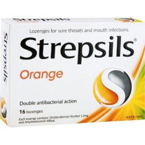 Стрепсилс для горла