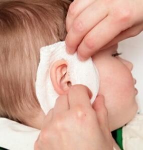 Компресс ребенку на ухо