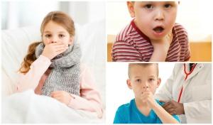 Основные симптомы при глухом кашле у ребенка