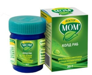 Мазь Доктор Мом - эффективный препарат при простудных заболеваниях и кашле