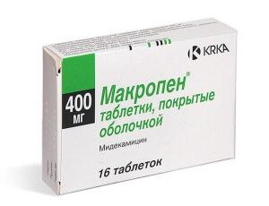 Макропен – антибактериальный препарат, который имеет широкий спектр действия