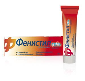Фенистил гель – это антигистаминное, противоаллергическое и противозудное средство для наружного применения