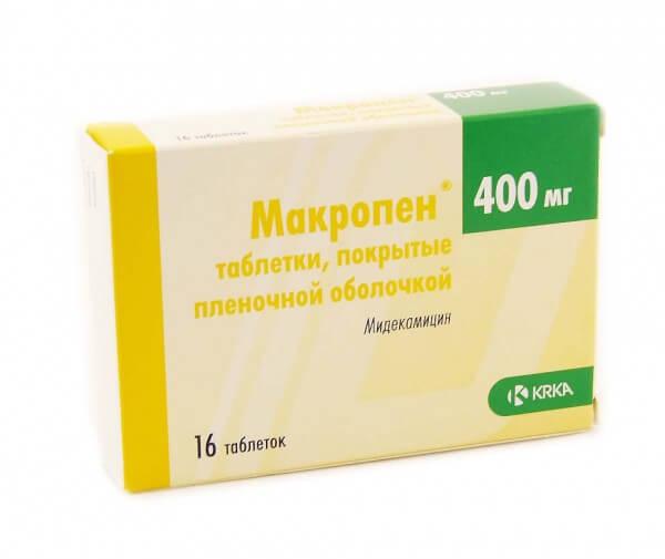 Макропен таблетки: инструкция по применению антибиотика