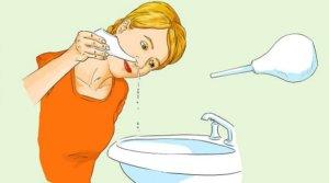 Процедура промывания носа при гайморите