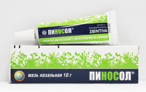 Мазь Пиносол - эффективное средство от сухости и заложенности носа