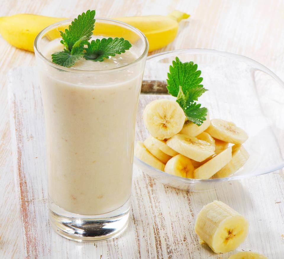 Бананово-мятное молоко